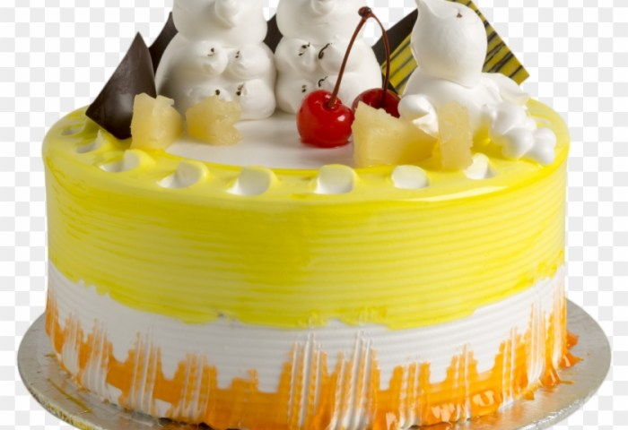 Special Pine Apple Cake Birthday Cake Hd Png Download 2160x1440