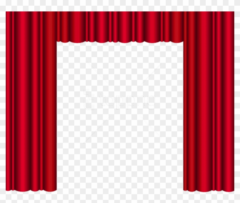 free png download red theater curtains