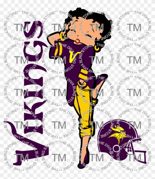 small resolution of clip library stock betty boop vikings the diva bling minnesota vikings hd png download
