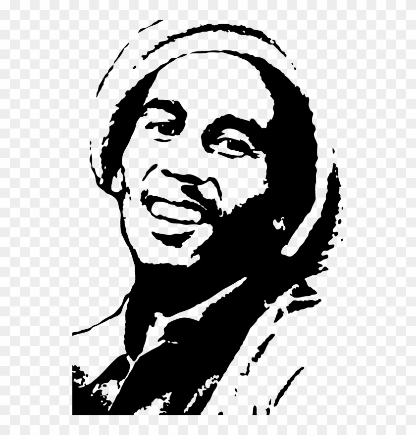 bob marley silhouette painting