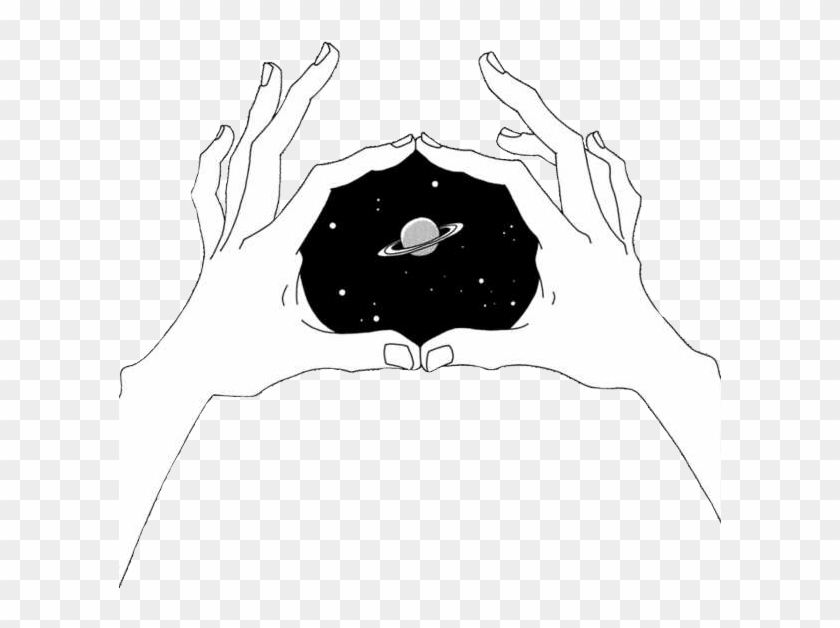 grunge space aesthetic hands
