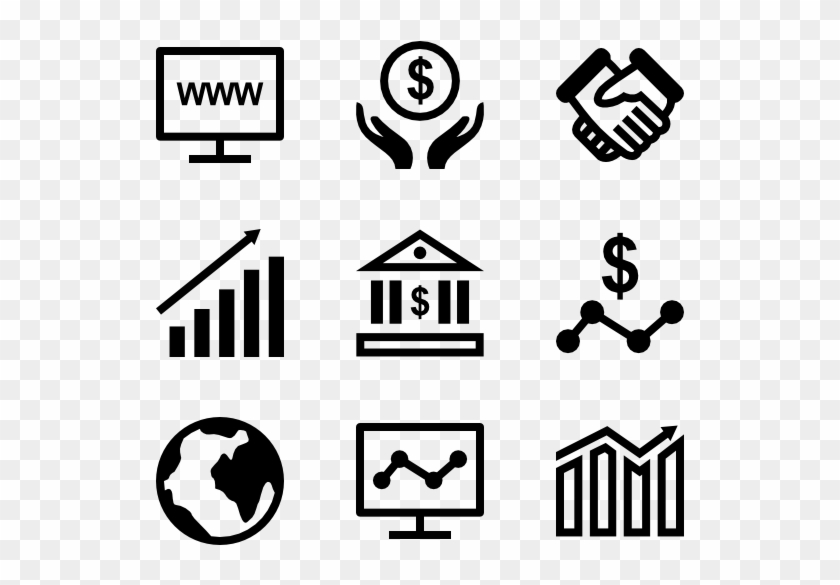 business icon collection media