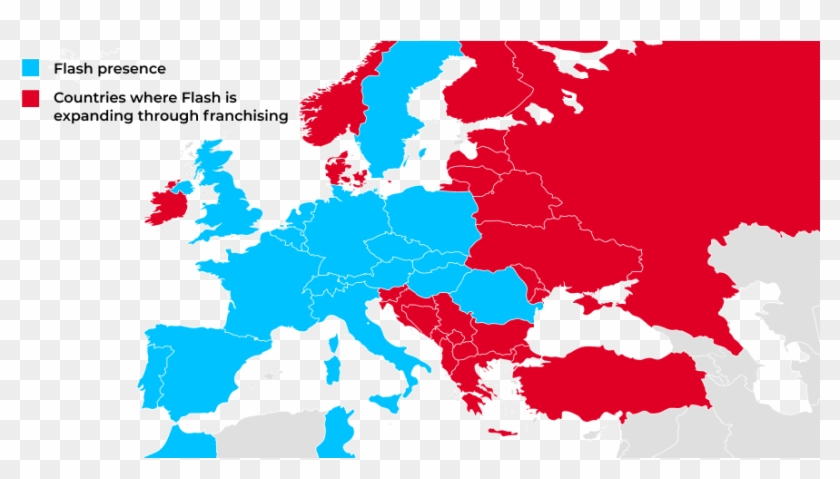 franchisee flash map blue