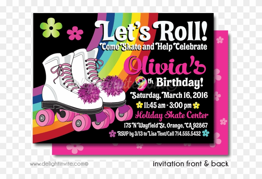 roller skate party printable