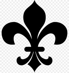 no clipart fleur de lis clipart black and white hd png download [ 840 x 976 Pixel ]