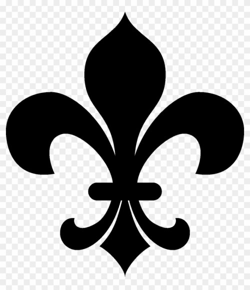 small resolution of no clipart fleur de lis clipart black and white hd png download