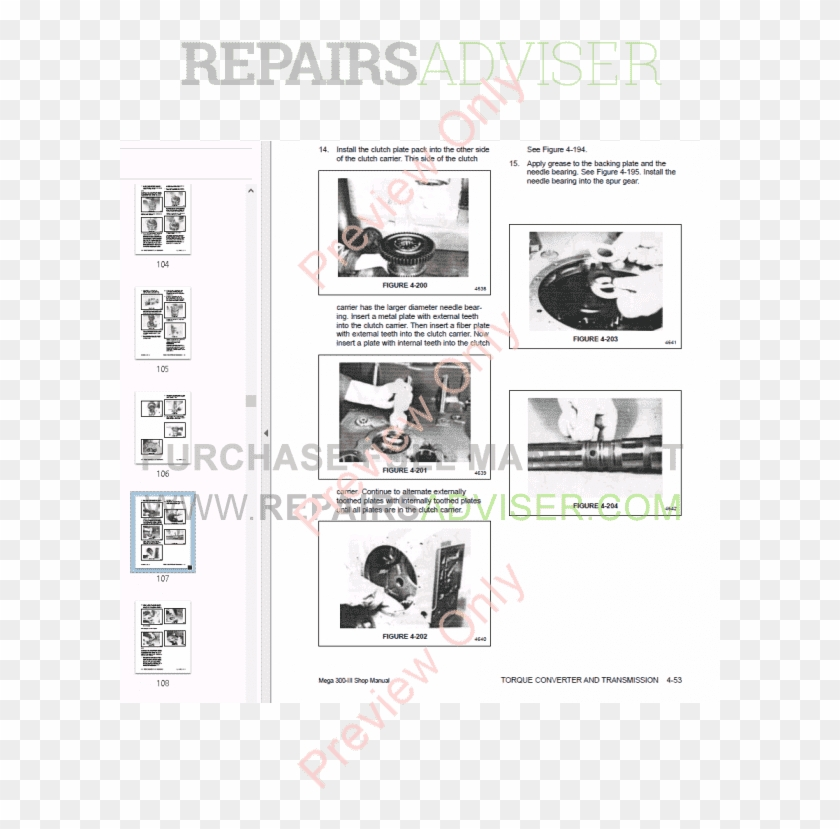 Daewoo Wheel Loader Mega 300-iii Shop Manual Pdf, Manuals