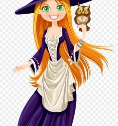 owl witch clipart la fille et la sorci re hd png download [ 840 x 1405 Pixel ]