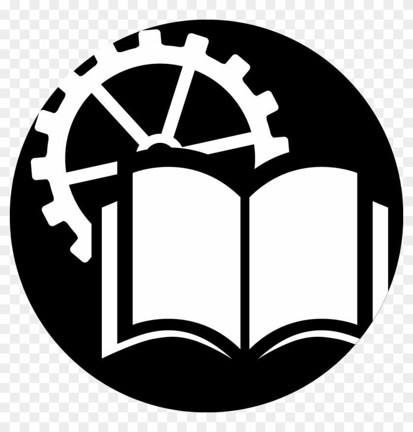 education logo black mechanical