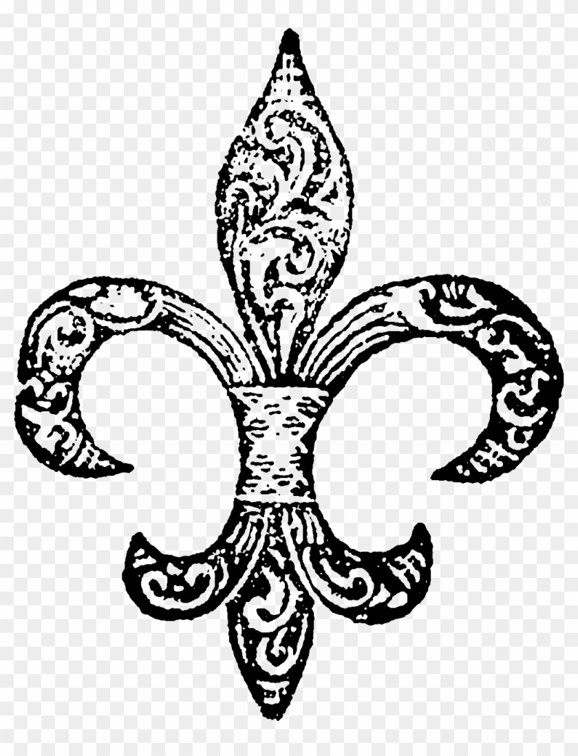hight resolution of digital fleur de lis downloads vintage fleur de lis clipart hd png download