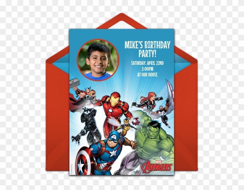avengers birthday invitation online hd