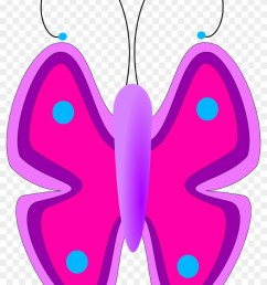 pink and purple butterfly clipart png transparent png [ 840 x 1224 Pixel ]