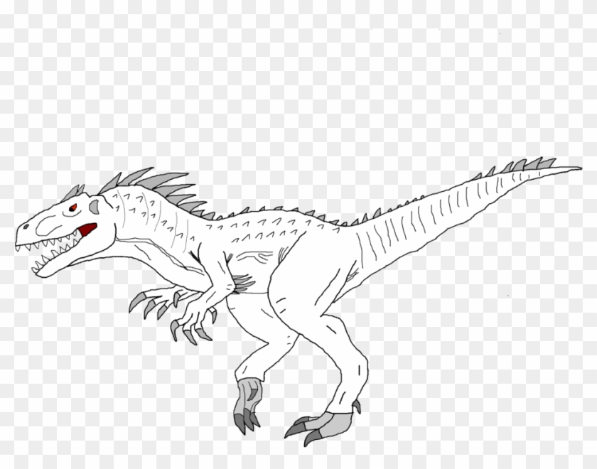 Jurassic World Indominus Rex Coloring Page 4 By Christopher Spinosaurus A Colorier Hd Png Download 1024x768 5805176 Pngfind
