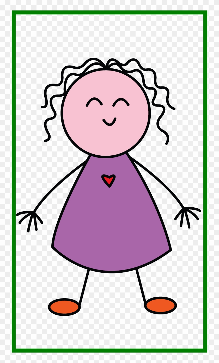 Clip Art Transparent Amazing Kids For A Always Start Simple Drawing Of A Girl For Kids Hd Png Download 750x1310 632924 Pngfind