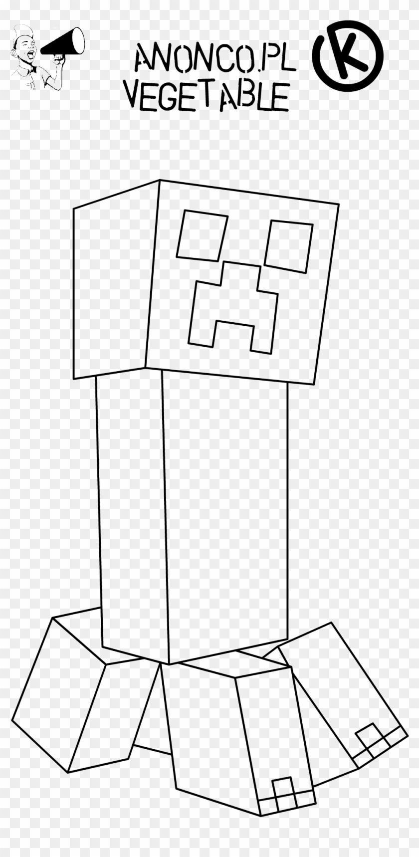 Minecraft Creeper Face Coloring Page Free Printable