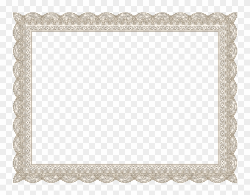brown formal certificate border