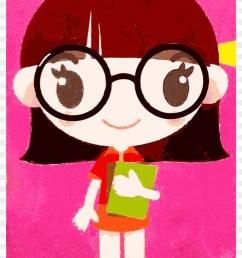 clipart nerd clip art girl hd png download [ 840 x 1242 Pixel ]