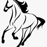 Clipart Transparent Stock Horse Line Drawing Simple Running Horses Drawings Hd Png Download Transparent Png Image Pngitem