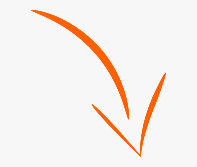 Curved Arrow Png Orange Clipart Png Download Tanda Panah