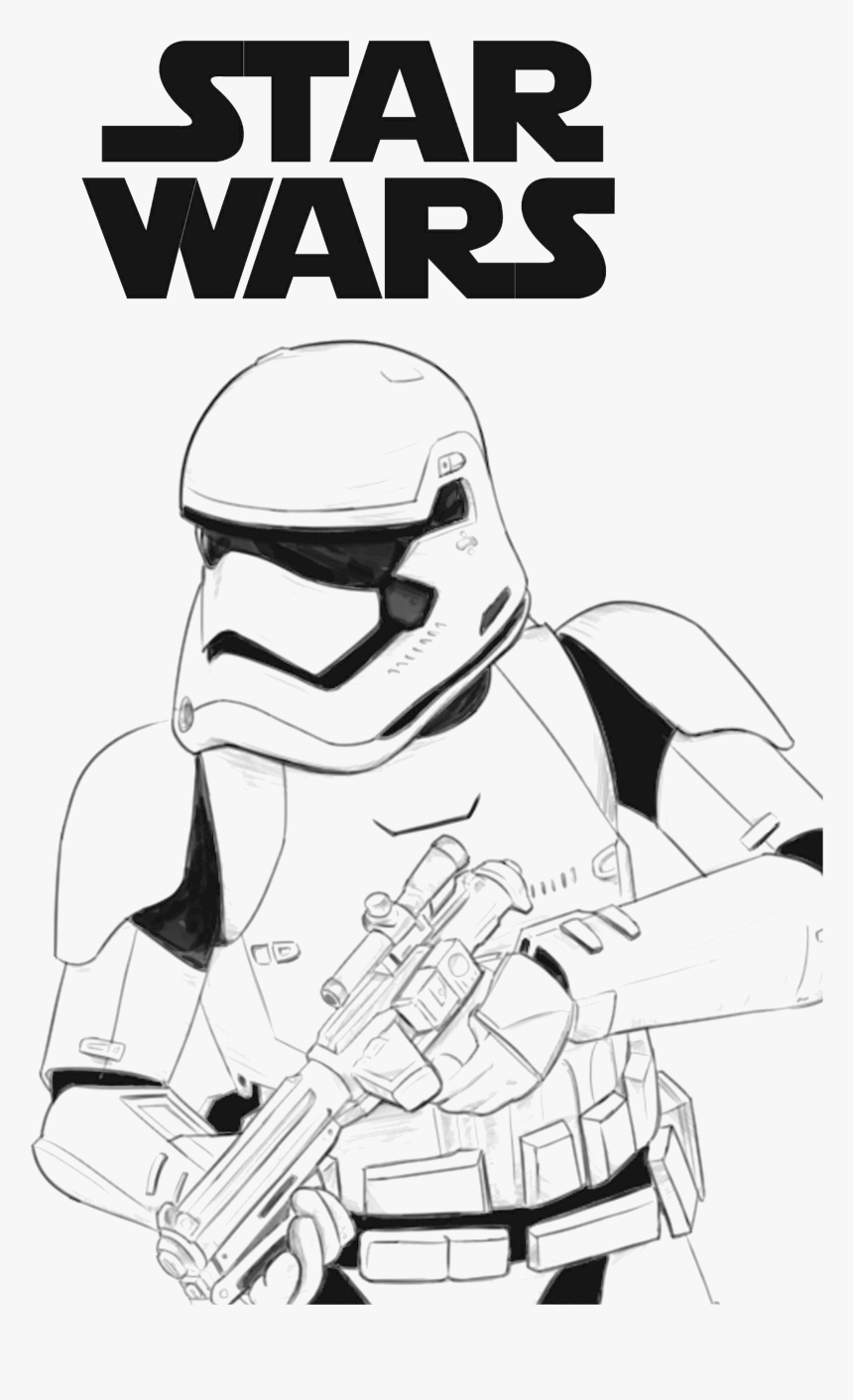 First Order Stormtrooper Coloring Page , Png Download