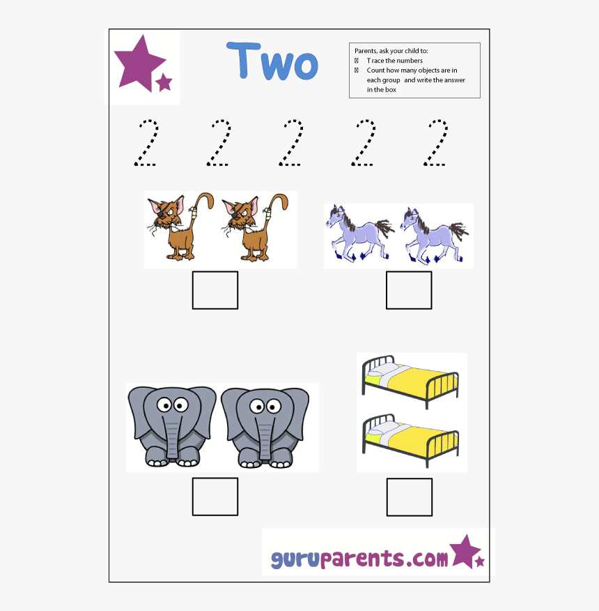 Number Two Tracing And Coloring Worksheets Number 2 Worksheets Guruparents Hd Png Download Transparent Png Image Pngitem