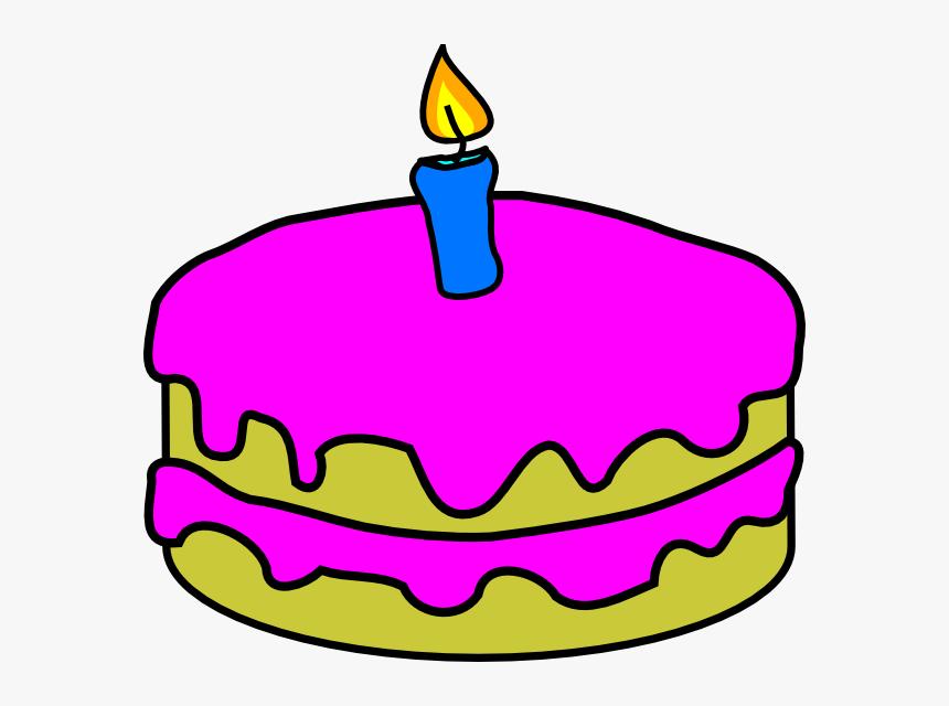 Transparent Birthday Cake Cartoon Png - Birthday Cake 1 Candle. Png Download . Transparent Png Image - PNGitem