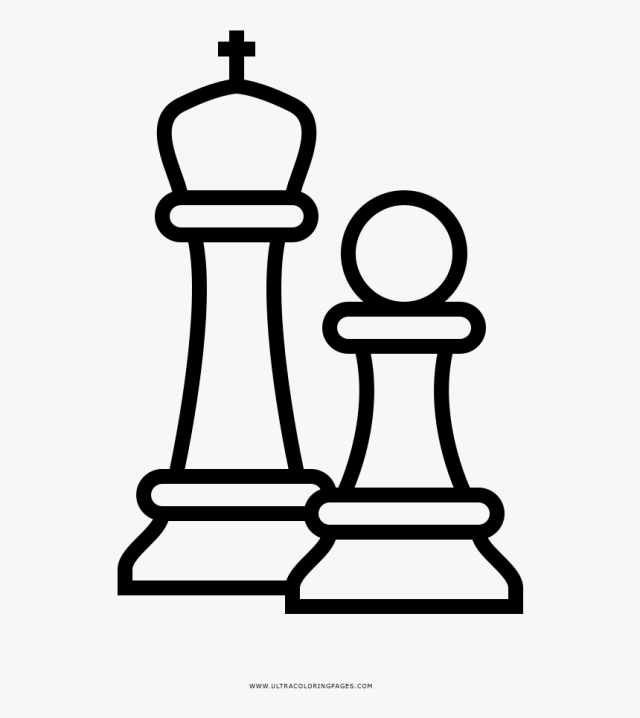 Chess Pieces Coloring Page - Chess Piece Chess Coloring Pages, HD