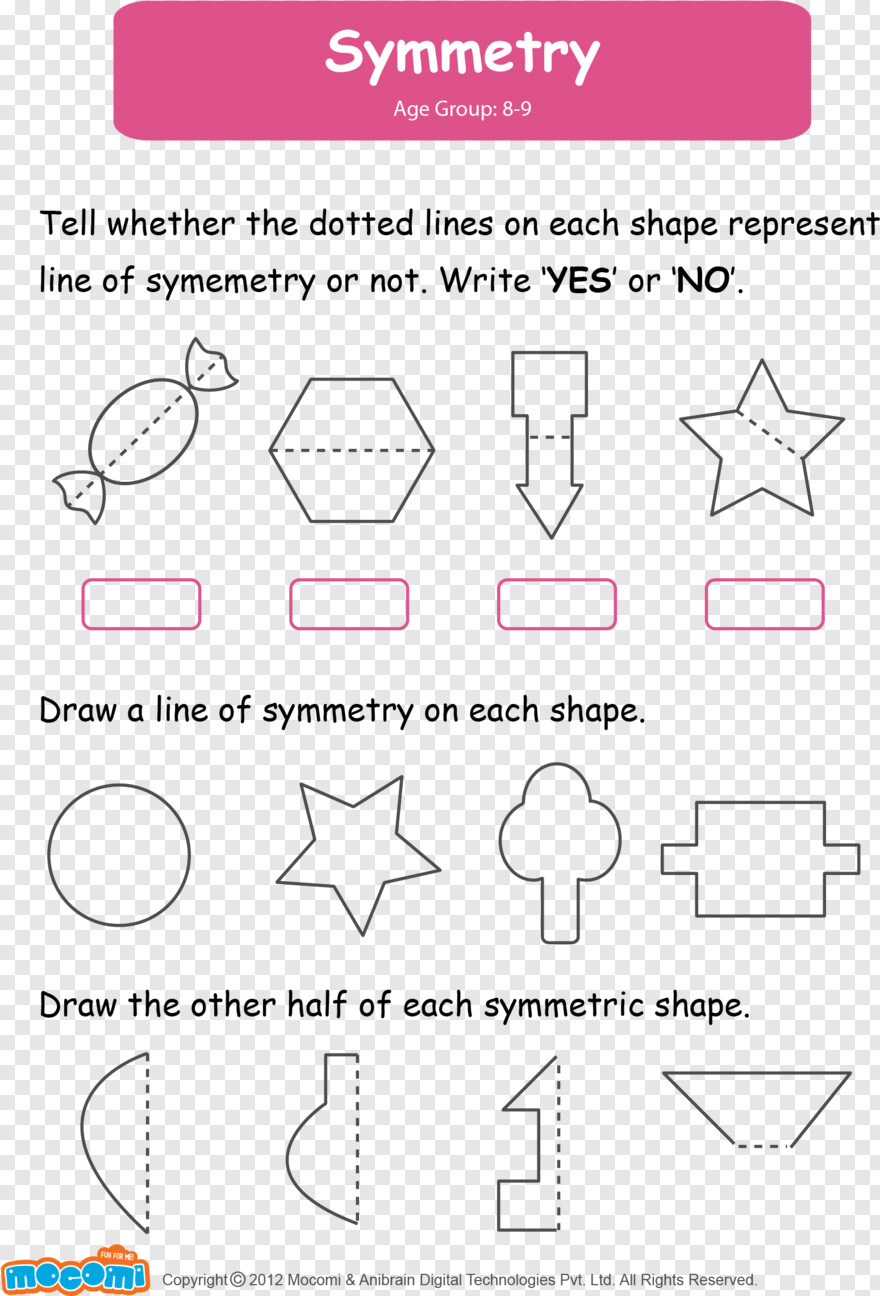 hight resolution of Dotted Lines - Symmetry Worksheets For Grade 2