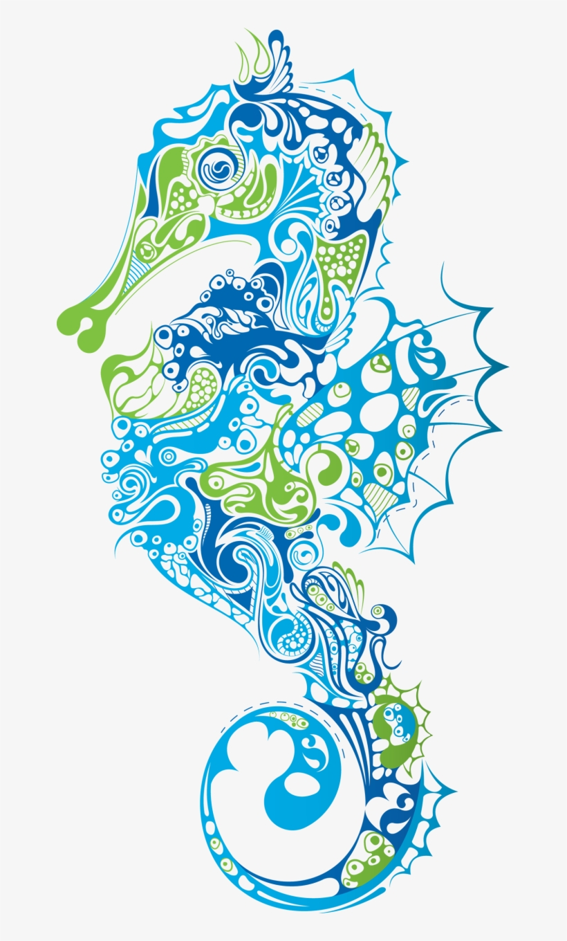 hight resolution of seafood clipart watercolor blue seahorse clipart