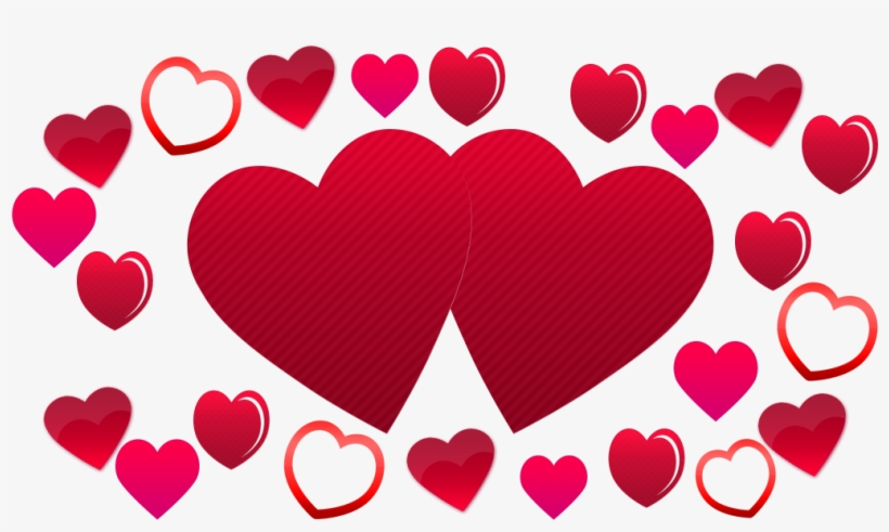 two hearts background plenty
