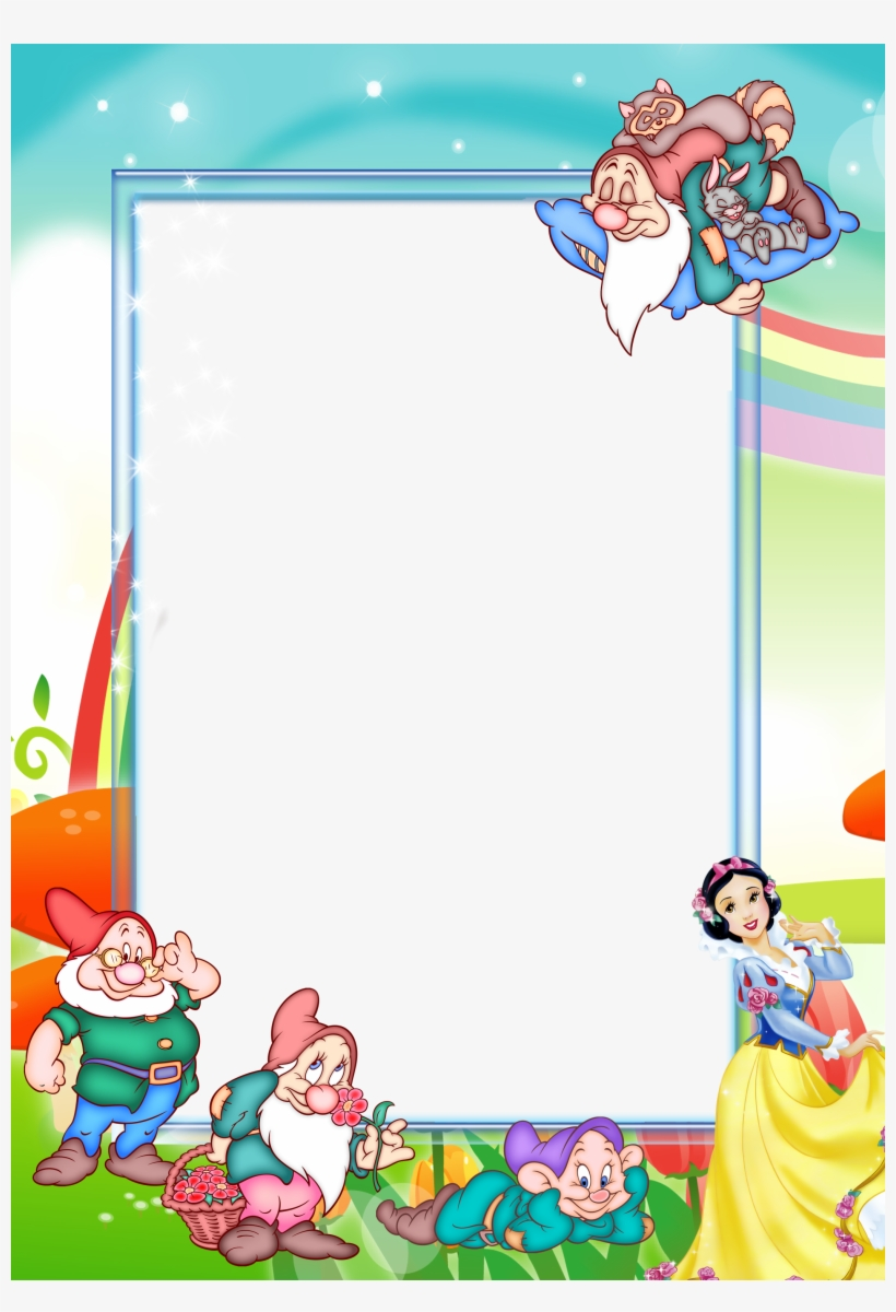medium resolution of clipart free stock transparent kids png photo frame snow white and the seven dwarfs frame