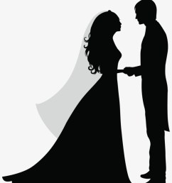 30 wedding party silhouette clipart clip etsy silhouette of a married couple [ 820 x 964 Pixel ]