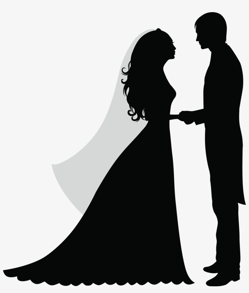 medium resolution of 30 wedding party silhouette clipart clip etsy silhouette of a married couple