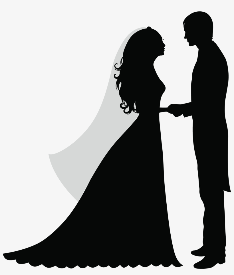 hight resolution of 30 wedding party silhouette clipart clip etsy silhouette of a married couple