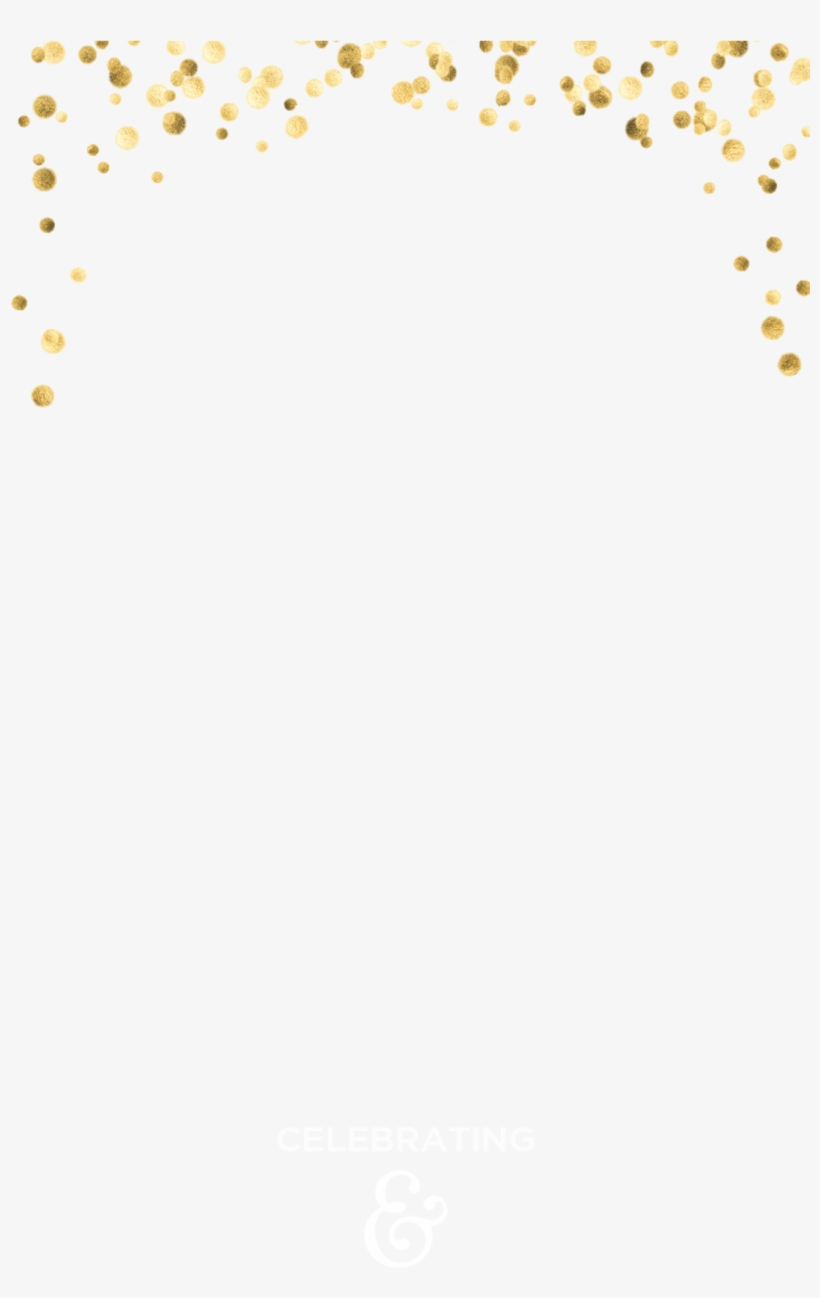 Gold Confetti Snapchat Geofilter Template Free Free Transparent PNG Download PNGkey