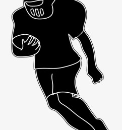 silhouettes of people silhouette clipart american football player png clipart [ 820 x 1261 Pixel ]
