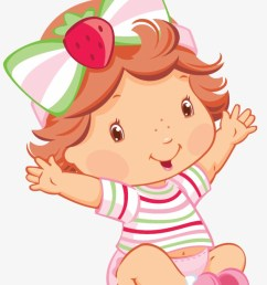 clipart royalty free baby fiesta huge strawberry shortcake baby png [ 820 x 1167 Pixel ]
