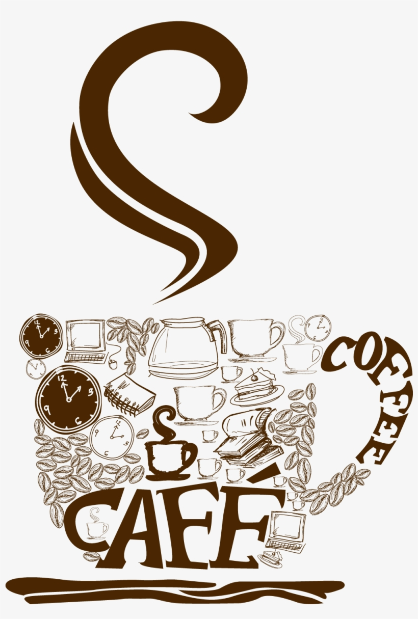 hight resolution of decorative coffee cup png vector clipart cup coffee png vector