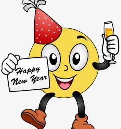 happy new year smiley face clip art clipart free clipart happy new year 2018 emoji [ 820 x 1053 Pixel ]