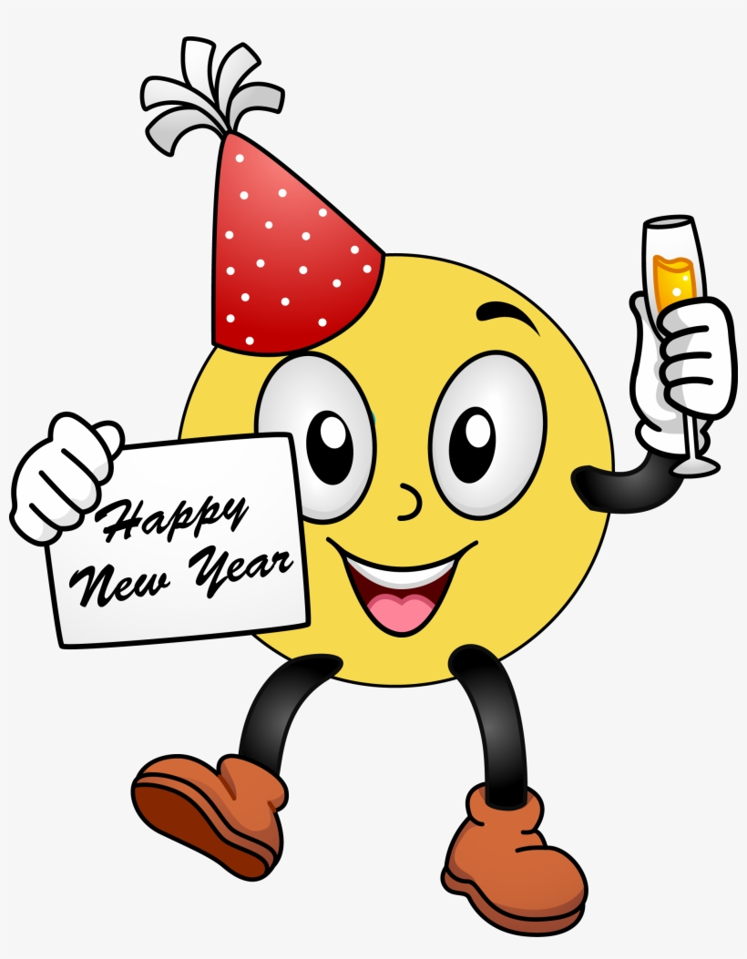 hight resolution of happy new year smiley face clip art clipart free clipart happy new year 2018 emoji