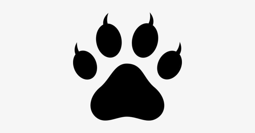 lion paw prints clip
