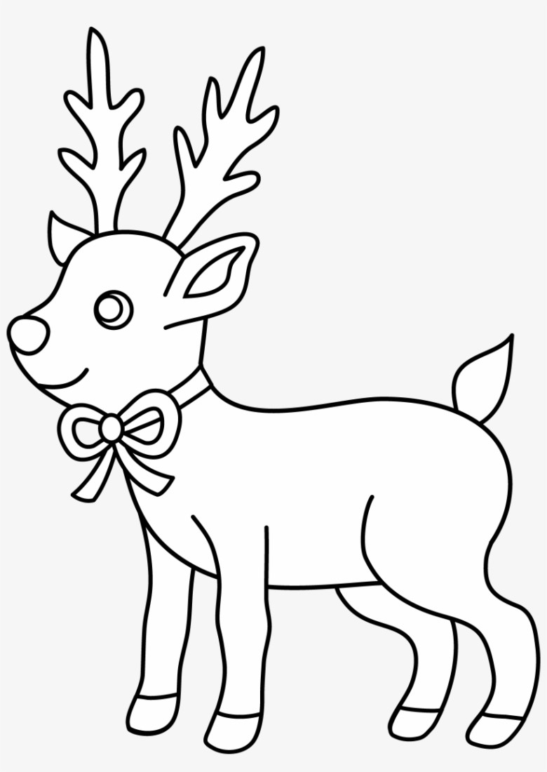 christmas reindeer coloring page - christmas coloring pages to print