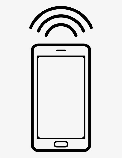 small resolution of mobile phone with connection signal comments phone clipart ring
