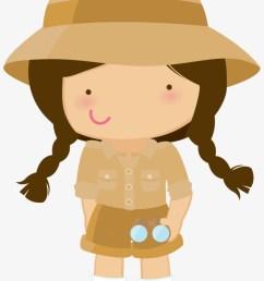 28 collection of safari hat clipart png safari girl clipart [ 820 x 1266 Pixel ]