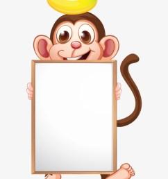 frames clipart monkey cartoon animals with board [ 820 x 1066 Pixel ]