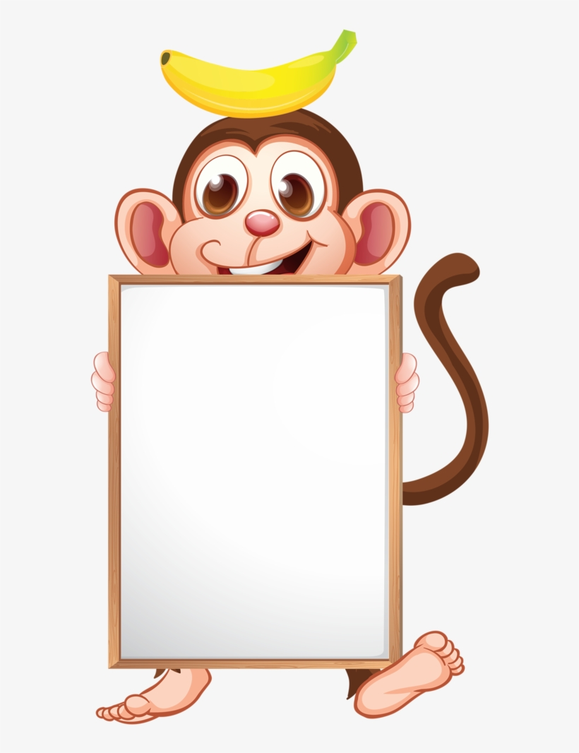 medium resolution of frames clipart monkey cartoon animals with board