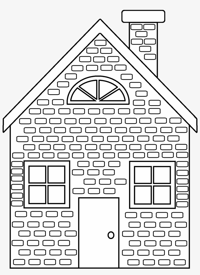 28 Collection Of Straw House Clipart Black And White