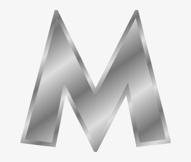 Letters Alphabet Silver Png Clip Arts Letter M Silver Transparent Png 3960418
