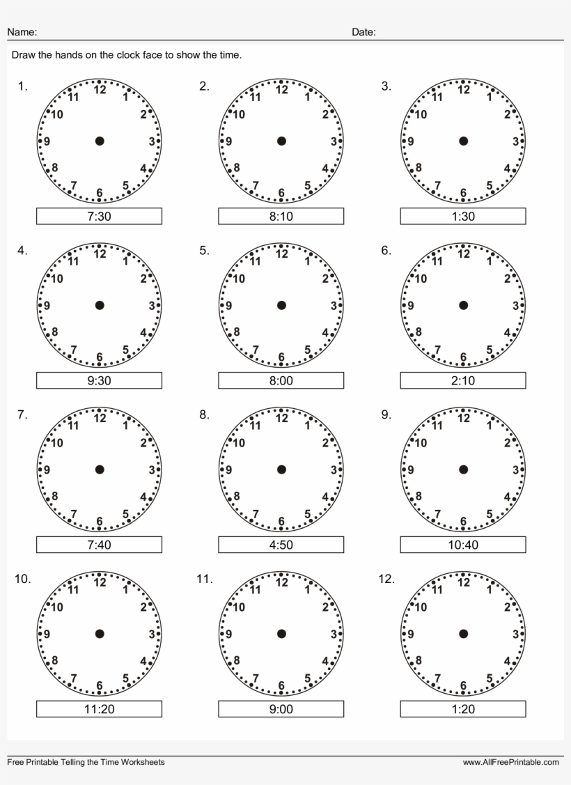 Learn How To Read The Clock For Kids Main Image Download
