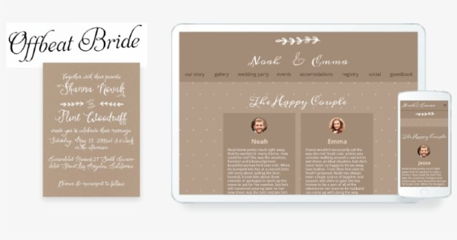 Wedding Invitation Website With A